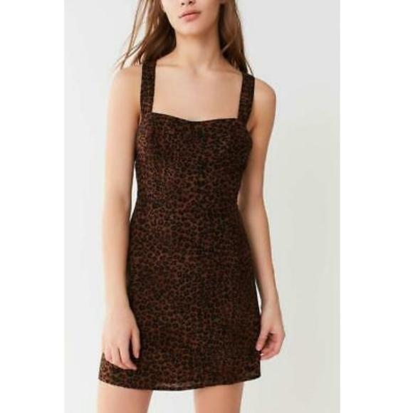 Urban outfitters leopard animal print mini dress